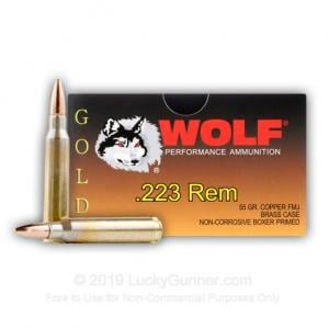 Wolf Performance Ammo Wolf Gold 223 55gr FMJ 20 Round Box G22355FMJ 645611301032