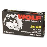 Wolf, .308 Winchester, FMJ, 150 Grain, 500 Rounds AUTO-KIT