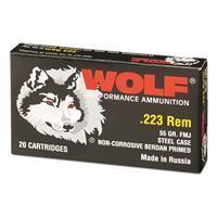 Wolf, .223 Remington, 55 Grain, FMJ Ammo, 1,000 Rounds AUTO-KIT