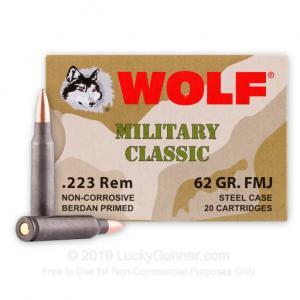 223 Rem - 62 gr FMJ - Wolf WPA MC - 20 Rounds 645611451157