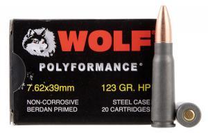 Wolf Performance Ammo PolyFormance BHP Rifle Ammo 7.62 X 39 123GR 762BHP