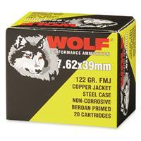 Wolf, 7.62x39mm, FMJ, 122 Grain, 1,000 Rounds AUTO-KIT
