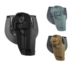 BlackHawk CQC SERPA Holster w/ Belt Loop and Paddle, Right Hand, Black, For Glock 26/27/33, 410501BK-R 410501BKR