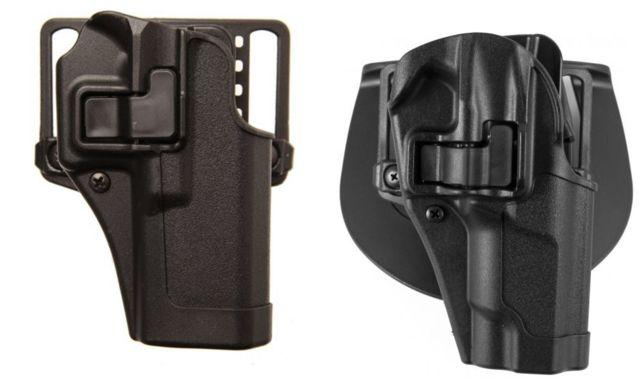 Blackhawk Serpa CQC Concealment Holster with Matte Finish w/Belt Loop and Paddle, Black, Left Hand, Springfield XD, 410507BK-L 410507BKL
