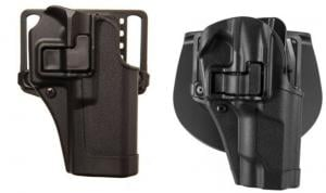 Blackhawk Serpa CQC Concealment Holster with Matte Finish w/Belt Loop and Paddle, Black, Right Hand, Taurus 85, 410532BK-R 410532BKR