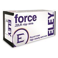 Eley Force, .22LR, LRN, 42 Grain, 50 Rounds 650911024000