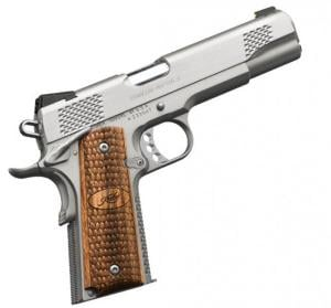 KIMBER STAINLESS RAPTOR II 45ACP 5IN STAINLESS / ZEBRAWOOD 8RD 3200181