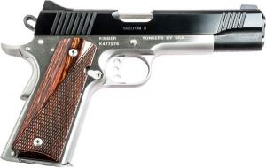 Kimber Custom II 45ACP 5 Inch 7 Rd Fixed Sights Two Tone Black/ Stainless 669278323015