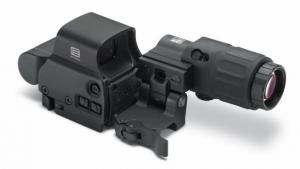 Eotech Holographic Hybrid Sight I, EXPS3-4, G33 Magnifier and Switch to Side Mount with Quick Detach HHS1
