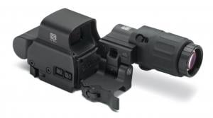 Eotech Holographic Weapon Sight, EXPS2-2 HWS 68 MOA Ring with 2 Dots, G33 Magnifier and Switch to Side Mount with Quick Detach HHS-2 HHSII