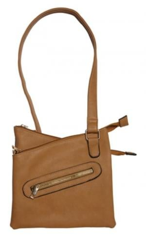 Bulldog Cases Cross Body Series Concealed Carry Purse Tan BDP032