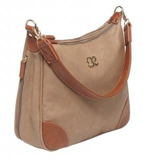 Bulldog Cases Hobo Series Concealed Carry Purse Taupe With Tan Trim BDP014