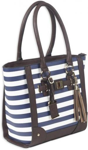 Bulldog Cases Tote Style Purse w/Holsters - Navy Stripe, Navy, BDP-050 BDP050