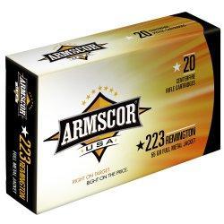 Armscor USA Ammunition 223 Remington 55GR Full Metal Jacket Per 400 FAC2231N-400