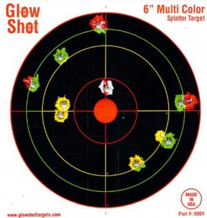 "60 Pack - 6"" Reactive Targets - GlowShot - Multi Color - See Your Hits Instantly - Gun & Rifle Targets - Glow Shot NAS-B004JH6GM6"