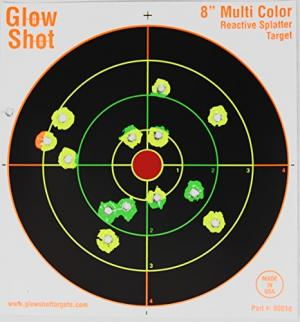 """75 Pack - 8"""" Reactive Splatter Targets - GlowShot - Multi Color - See Your Hits Instantly - Gun and Rifle Targets - Search GlowShot for All Our 6"""", 8"""" and 10"""" Targets 689466475005"""