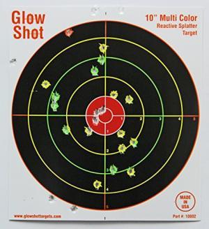 "50 Pack - 10"" Reactive Splatter Targets - Glowshot - Multi Color - Gun and Rifle Targets - Glow Shot 689466475029"