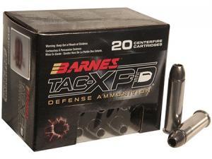 Barnes TAC-XPD Defense Ammunition 357 MAG 125 GR Copper 20 rd per box 21550