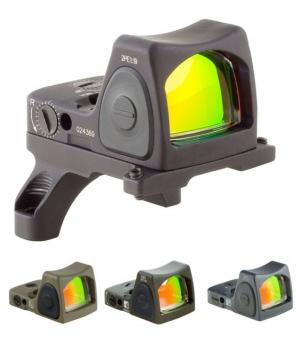 Trijicon RMR Type 2 Adjustable LED Red Dot Sight w/RM36 ACOG Mount, Black, 6.5MOA, 700684 719307614352