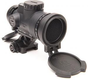 Trijicon 1x25 MRO Patrol 2 MOA Adjustable Red Dot Sight w/Full Co-Witness Quick Release Mount AC32070, Black, 2200019 MROC2200019