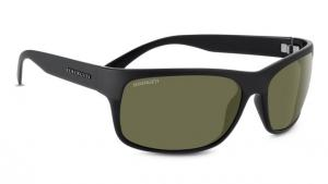 Serengeti Pistoia Sunglasses, Shiny/Satin Black Frame, Polarized 555nm Lens, 8301 726644090206