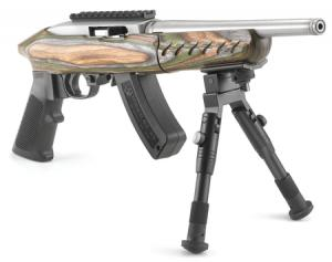 Ruger Charger Green/Stainless 22LR 10-inch 15Rnd Threaded Bi-pod 4920