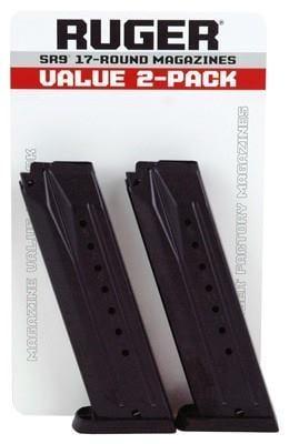 Ruger SR9/SR9c/9E Magazine 9mm 17Rd Value 2-Pack 90449