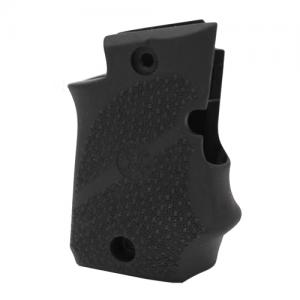 Hogue SIG Sauer P938 Ambi Safety Rubber Grip with Finger Grooves Black 98080