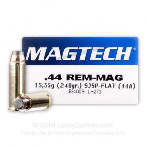 44 Mag - 240 Grain SJSP - Magtech - 1000 Rounds 754908164301