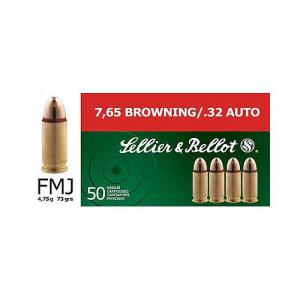 Sellier and Bellot 32ACP 73GR FMJ 50rds SB32A