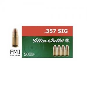 Sellier and Bellot .357 Sig 140GR FMJ 50Rds SB357SIG
