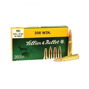 Sellier and Bellot .308 Win 147GR FMJ 20rds SB308A