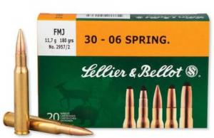 Sellier and Bellot 30-06 180GR FMJ 20rds SB3006A
