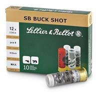 "Sellier & Bellot Buckshot, 2 3/4"" 12 Gauge, 00 Buckshot, 9 Pellets, 10 Rounds 754908533282"
