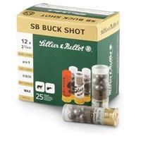 "Sellier & Bellot Buckshot, 12 Gauge, 2 3/4"", 00, 9 Pellets, 250 Rounds SB12BSG"