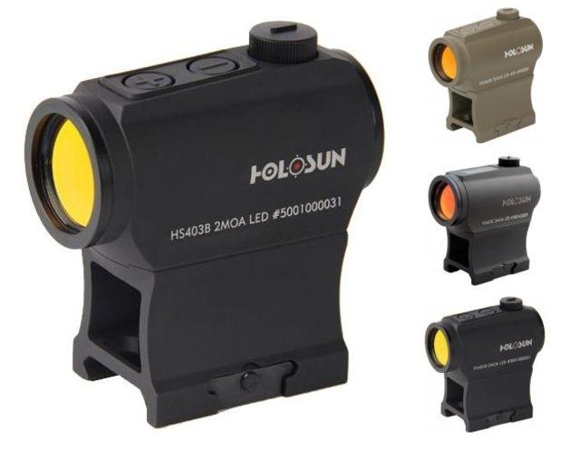Holosun Paralow Red Dot Sight, 2 MOA Dot, Parallax-Free, Solar Power & Battery Tray, HS403C HS403C