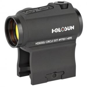 Holosun Circle Micro Red Dot Sight,2 MOA Dot,65 MOA Circle,Black HS503GU 760921087688