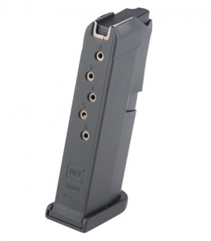 Glock 43 Magazine with Extension Black 9mm 6Rd MF08855