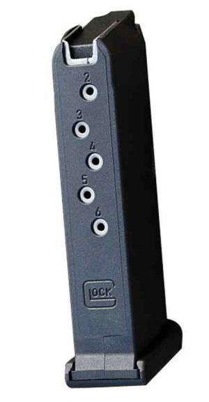Glock 43 Magazine Black 9mm 6Rd MF43006