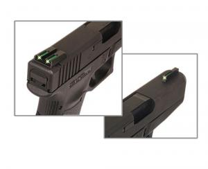 TruGlo TFO Fiber Optic Handgut Sight Set for Novak 1911 .270/.500, Green, TG131NT3 TG131NT3