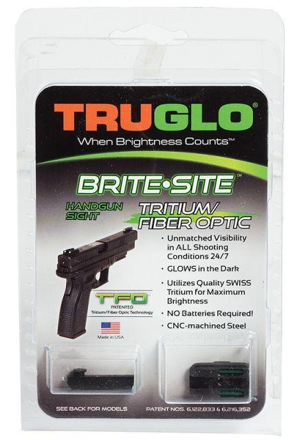 TruGlo Brite-Site Tritium/Fiber Low Profile Green Optic Sight for Glock 42, TG131GT1A TG131GT1A