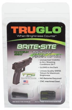 TruGlo Brite-Site TFO Low Profile Green Fiber Optic Front Yellow Rear Sight Set for Glock 42, TG131GT1B TG131GT1B
