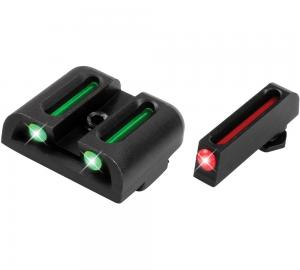 Truglo Brite-Site Fiber Optic Sights Black Fits Glock 42 Front Red Rear Green TG131G3