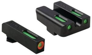 TruGlo Brite-Site TFX Pro Sight Set For Glock 17/17L/19/22/23/24/26/27/33/34/35/38/39, Green Rear, Green With Orange Focus Lock Front Sight, TG13GL1PC TG13GL1PC