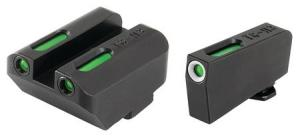 TruGlo Brite-Site TFX Sights For Glock 17/17L/19/22/23/24/26/27/33/34/35/38/39, Green Rear/Green With Focus Lock Front, Suppressor Height, TG13GL4A TG13GL4A