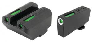 TruGlo Brite-Site TFX Sights For Glock 20/21/25/28/29/30/31/32/37/40/41, Green Rear/Green With Focus Lock Front, Suppressor Height, TG13GL5A TG13GL5A