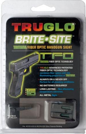 TruGlo Tritium/Fiber Optic Night Sight Set, Green Front/Rear - For Glock 17/19/22 and Similar TG131GT1 TG131GT1