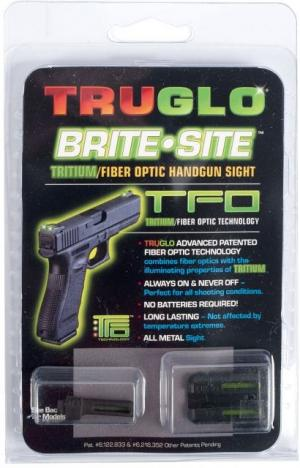 TruGlo Tritium/Fiber Optic Night Sight Set, Green Front/Rear - For Glock 20/21 and Similar TG131GT2 TG131GT2