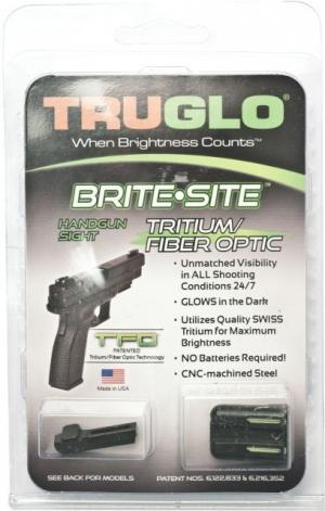 TruGlo Tritium/Fiber Optic Night Sight Set, Green Front/Rear - Springfield XD - TG131XT TG131XT