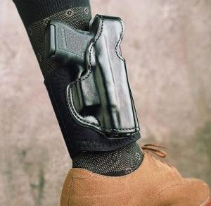 DeSantis Die Hard Ankle Rig Holster - Right, Black, Lined 014PCE1Z0 - For Glock 26, 27, 33 014PCE1Z0